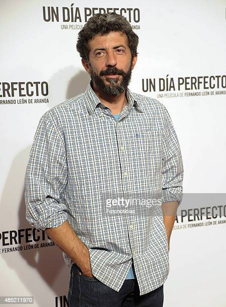 Alberto Rodriguez attends the 'A Perfect Day' Premiere at Palafox Cinema on August 25 2015 in Madrid Spain