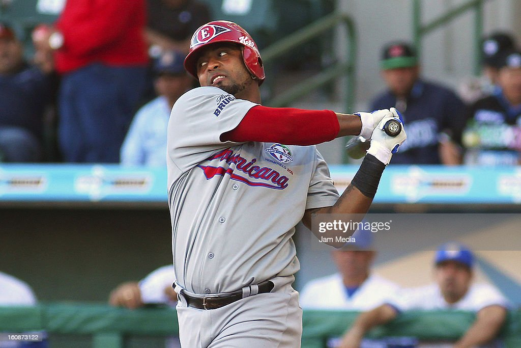 Alberto Rosario of Republica Dominicana in action during a match between Republica Dominicana and Venezuela as part of the Caribbean Series 2013 at Sonora Stadium on february 06, 2013 in Hermosillo, Mexico.