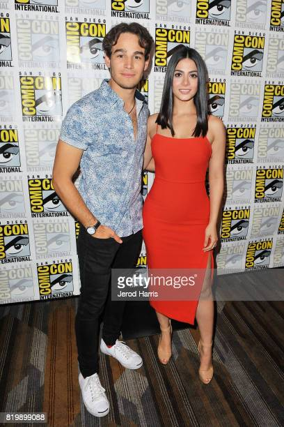 Alberto Rosende and Emeraude Toubia attend ComicCon International 2017 Day 1 on July 20 2017 in San Diego California