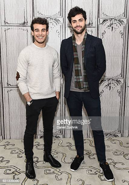 Alberto Rosende and Matthew Daddario attend AOL Build to discuss the upcoming season of 'Shadowhunters' at AOL HQ on January 9 2017 in New York City