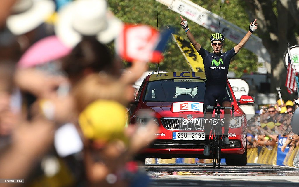 Alberto Rui Costa of Portugal and Movistar Team wins stage sixteen of the 2013 Tour de France, a 168KM road stage from Vaison-la-Romaine to Gap on July 16, 2013 in Gap, France.