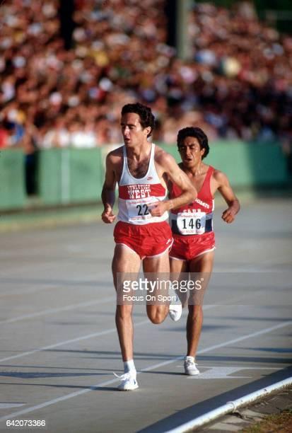 Alberto Salazar competes in the Prefontaine Classic circa 1981 in Eugene Oregon