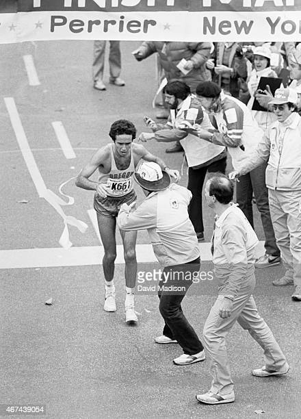 Alberto Salazar wins the 1980 New York Marathon held on October 26 1980 in New York New York Salazar won the race in a time of 20941 the first of his...