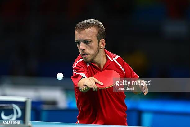 Alberto Seoane of Spain competes in the men's singles Table Tennis Class 6 on day 2 of the Rio 2016 Paralympic Games at Riocentro Pavilion 3 on...