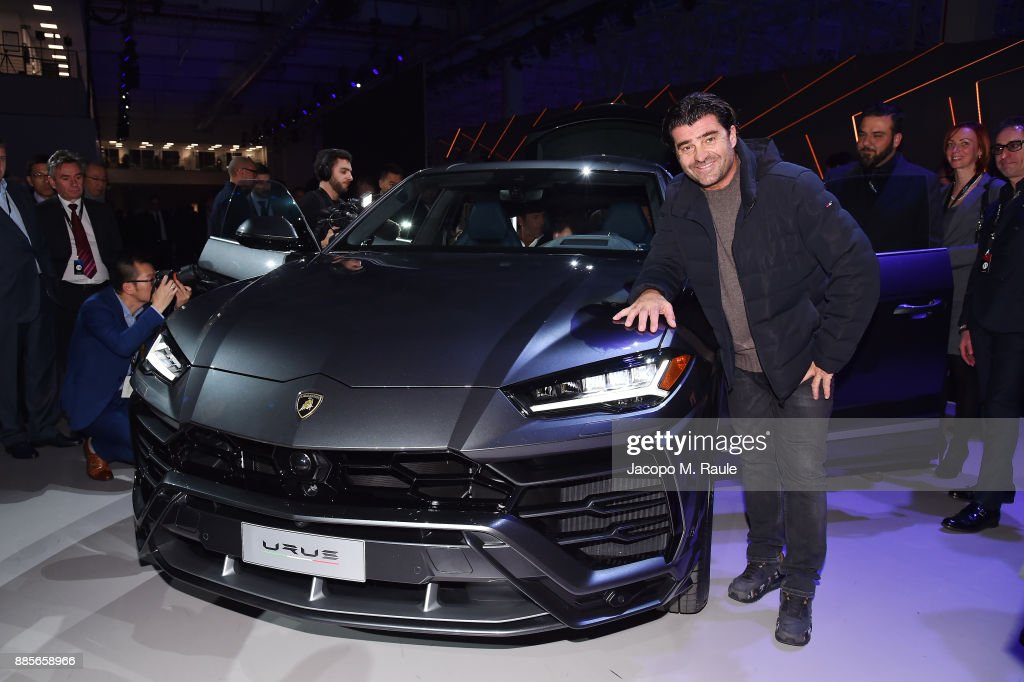 Alberto Tomba attends LAMBORGHINI URUS WORLD PREMIERE on December 4, 2017 in Sant'Agata Bolognese, Italy.