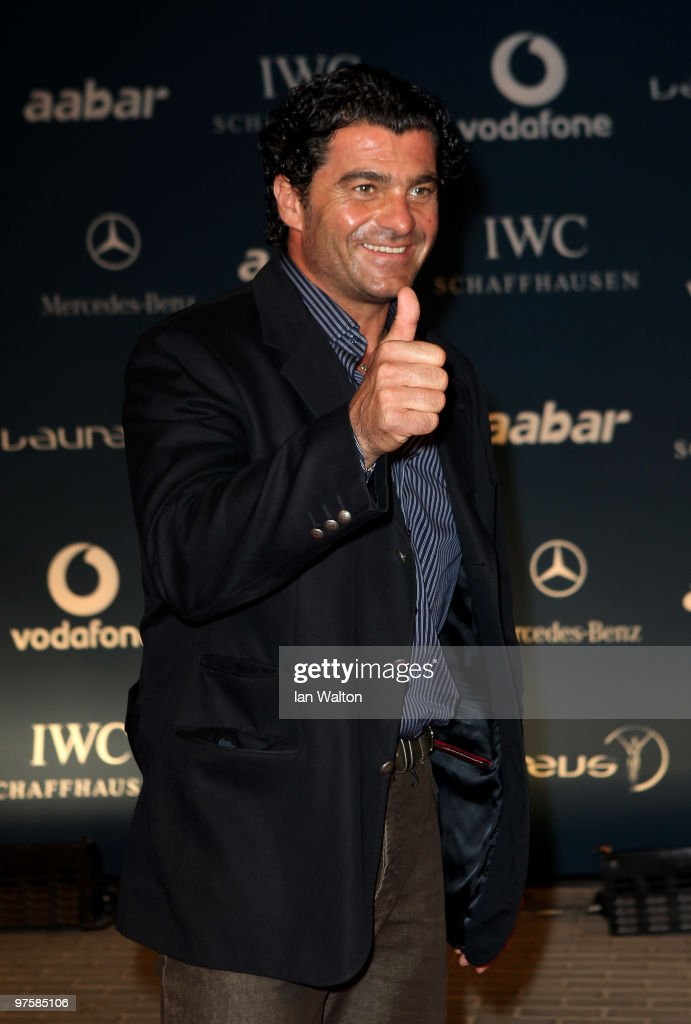 Alberto Tomba attends the Laureus Welcome Party part of the Laureus Sports Awards 2010 at the Fairmount Hotel on March 9,2010 in Abu Dhabi,United Arab Emirates.