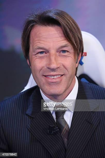 Alberto Tramezzani attends the 'Quelli Che Il Calcio' Tv Show on April 19 2015 in Milan Italy