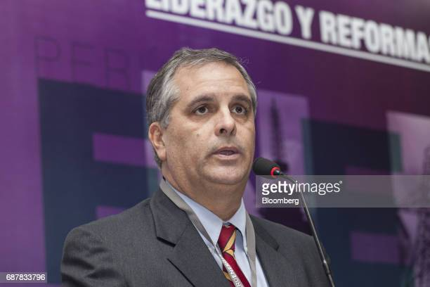 Alberto Varillas partner at Garcia Sayan Abogados speaks during the Peru Energy 2017 conference in Lima Peru on Wednesday May 24 2017 The conference...