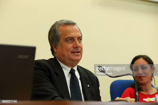 Alberto Villani President of the Italian Society of Pediatrics during the press conference at the Ministry of Health to present the new and...