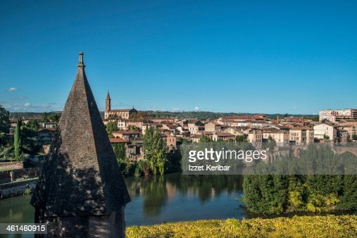 albi city view from berbie gardens stock photo getty images. Black Bedroom Furniture Sets. Home Design Ideas