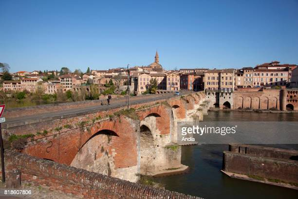 panoramic view of the city with the Pont Neuf Bridge along the banks of the River Tarn The Episcopal City and Albi Cathedral are listed Unesco World...