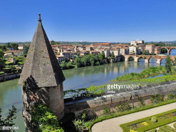 Albi The right bank of the River Tarn viewed from the gardens of the Palais de la Berbie former Bishop's Palace now housing the ToulouseLautrec...