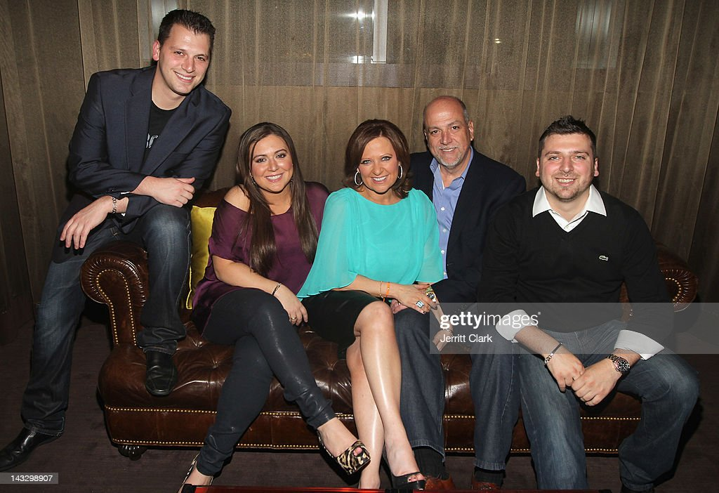 Albie Manzo, Lauren Manzo, <a gi-track='captionPersonalityLinkClicked' href=/galleries/search?phrase=Caroline+Manzo&family=editorial&specificpeople=5841102 ng-click='$event.stopPropagation()'>Caroline Manzo</a>, Albert Manzo and Chris Manzo attend the 'Real Housewives of New Jersey' Season 4 viewing party at The Chandelier Room on April 22, 2012 in Hoboken, New Jersey.