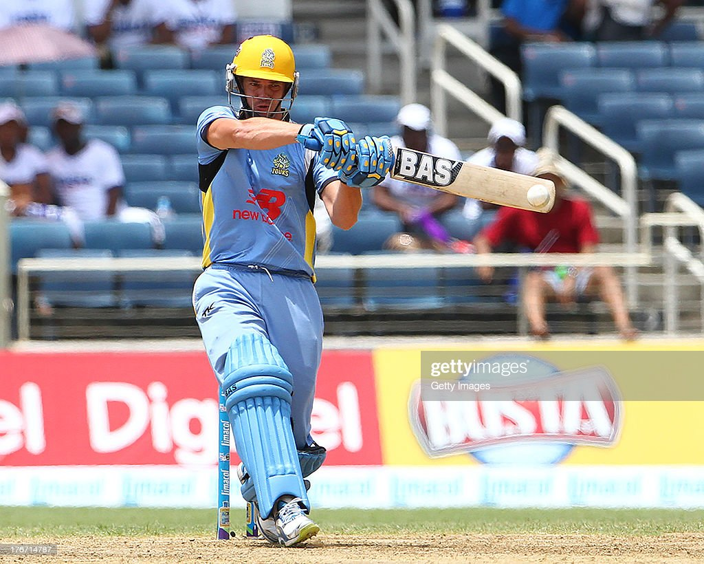 Albie Morkel during the Eighteenth Match of the Cricket Caribbean Premier League between St. Lucia Zouks v Trinidad and Tobago Red Steel at Sabina Park on August 17, 2013 in Kingston, Jamaica.