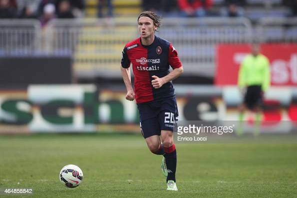 Albin Ekdal of Cagliari in action during the Serie A match between Cagliari Calcio and Hellas Verona FC at Stadio Sant'Elia on March 1 2015 in...