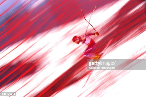 Albin Tahiri of Kosovo competes in the Men's Combined Downhill during the FIS Alpine World Ski Championships on February on February 13 2017 in St...