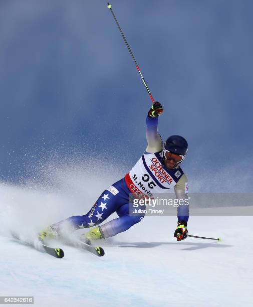 Albin Tahiri of Kosovo competes in the Men's Giant Slalom during the FIS Alpine World Ski Championships on February 17 2017 in St Moritz Switzerland