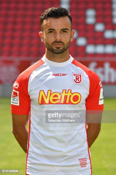 Albion Vrenezi of Jahn Regensburg poses during the team presentation at Continental Arena on July 18 2017 in Regensburg Germany