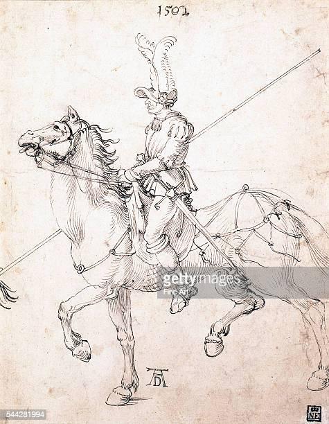 Albrecht Dürer Lancer on Horseback pen and ink on paper 272 x 215 cm Museum of Fine Arts Budapest Hungary