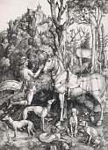 Albrecht Dürer Saint Eustace 15001501 engraving 354 x 264 cm private collection
