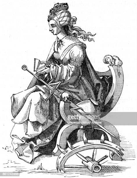 Albrecht Durer's interpretation of the Martyrdom of St Catherine of Alexandria also known as Saint Catherine of the Wheel was according to tradition...
