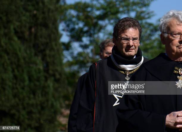 Albrecht von Boeselager Grand Chancellor of the Order of Malta walks in procession along with other Knights of Malta before the election of the new...