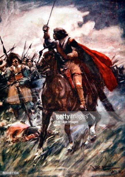 Albrecht von Wallenstein at the Battle of Lutzen 1632 Through their ranks rode Wallenstein drawn sword in hand The Battle of Lutzen was an engagement...