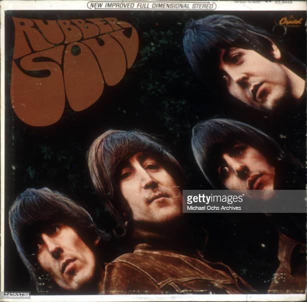 Album cover for rock and roll band 'The Beatles' album entitled 'Rubber Soul' which was released on December 3 1965 George Harrison John Lennon Ringo...