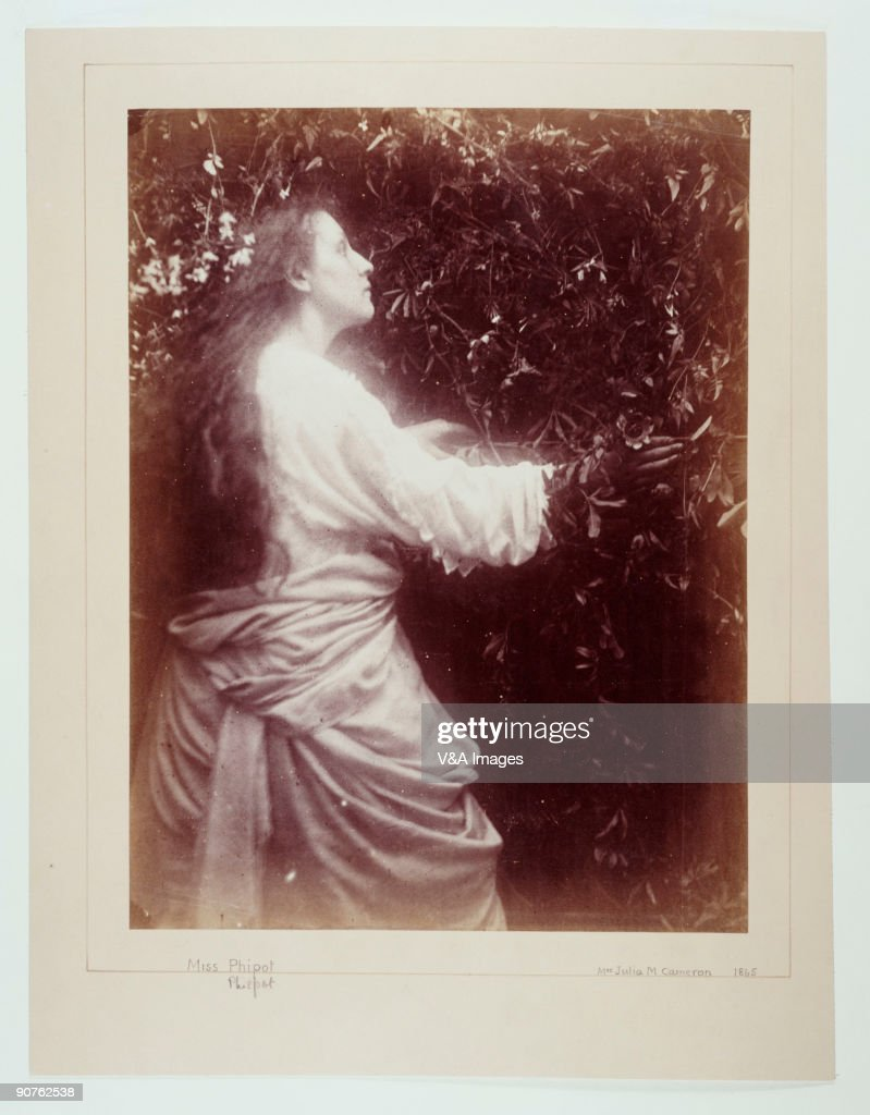 Albumen print photograph of Mary Hillier by Julia Margaret Cameron whose photographic portraits are considered among the finest in the early history...