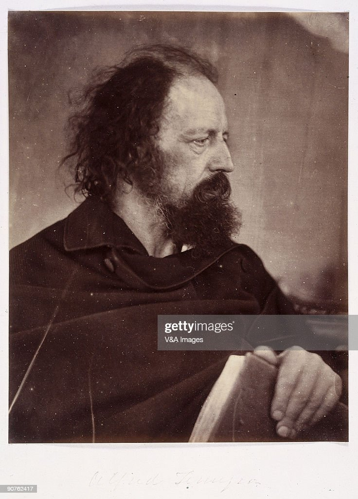 Albumen print portrait of the poet Alfred Lord Tennyson by Julia Margaret Cameron Cameron's photographic portraits are considered among the finest in...