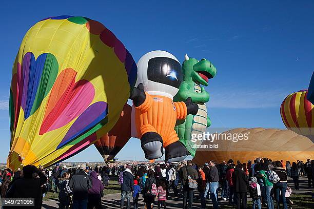 Albuquerque International Balloon Fiesta festival of hot air balloons New Mexico USA