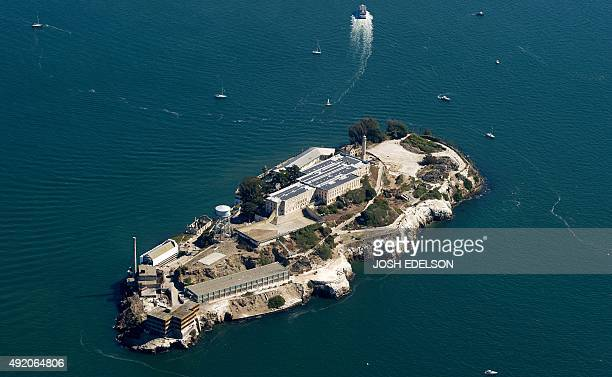 Alcatraz is seen in San Francisco California on October 9 2015 AFP PHOTO/ JOSH EDELSON