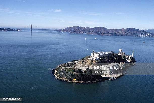 Alcatraz, San Francisco, CA, USA, aerial view
