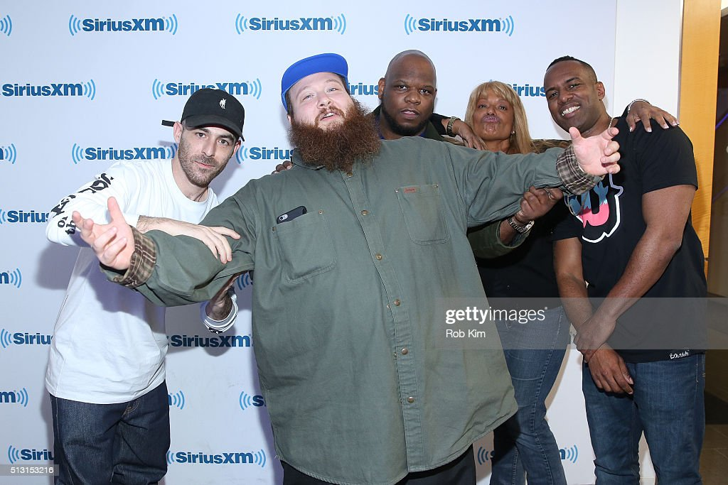 Alchemist, Action Bronson, Meyhem Lauren, Tracy Jordan and DJ Whoo Kid visit at SiriusXM Studio on February 29, 2016 in New York City.