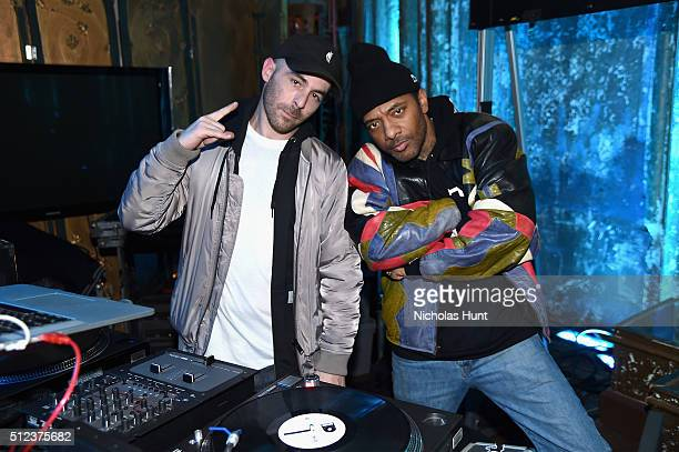 DJ Alchemist and Prodigy attend the VICELAND launch party at The Angel Orensanz Foundation on February 25 2016 in New York City