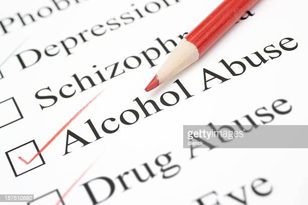alcohol abuse on check list