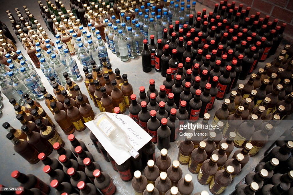 Alcohol of various sorts is stored in a warehouse at the new customs buiding at the border post in Chirundu on the border of Zambia and Zimbabwe...