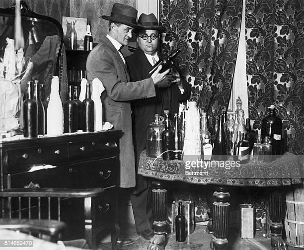 Alcohol raid on a speakeasy 1926