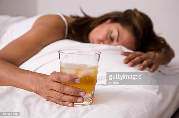 Alkoholische Frau