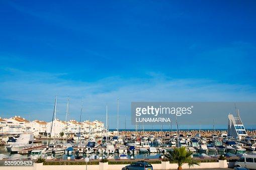 Alcossebre alcoceber marina port in Castellon Spain : Stock Photo