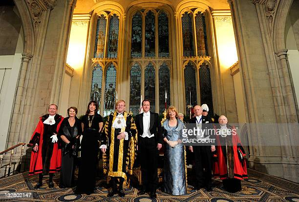 Alderman Sheriff Alan Yarrow his wife Mrs Yarrow Prime Minister's wife Samantha Cameron Lord Mayor David Wootton British Prime Minister David Cameron...
