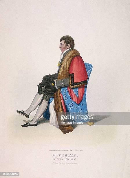 Alderman Sir William Heygate seated and in civic costume showing robe and hat Heygate was Alderman for Coleman St Ward from 18121843 and Lord Mayor...