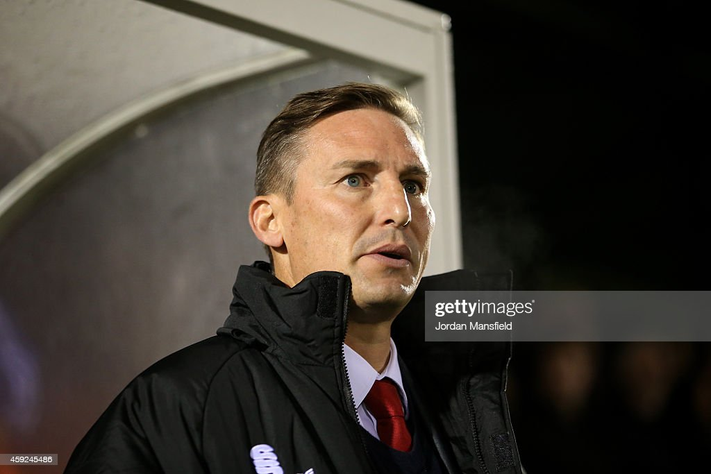 Aldershot manager Andy Scott looks on ahead of the FA Cup First Round Replay match between Aldershot Town and Portsmouth at The Electrical Services...