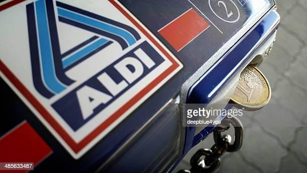 Aldi Einkaufswagen mit Münzfach