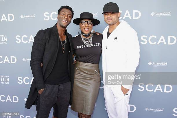 Aldis Hodge Aisha Hinds and Anthony Hemingway attend the 19th Annual Savannah Film Festival presented by SCAD Day 2 on October 23 2016 in Savannah...