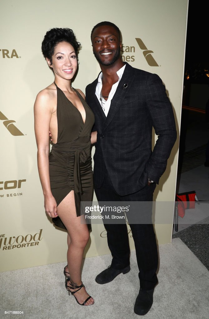 Aldis Hodge (R) attends The Hollywood Reporter and SAG-AFTRA Inaugural Emmy Nominees Night presented by American Airlines, Breguet, and Dacor at the Waldorf Astoria Beverly Hills on September 14, 2017 in Beverly Hills, California.
