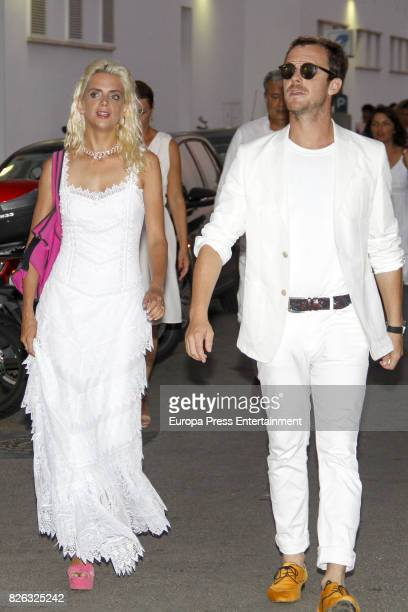 Aldo Comas and his wife Macarena Gomez attend dinner during the 36th Copa Del Rey Mafre Sailing Cup on August 3 2017 in Palma de Mallorca Spain