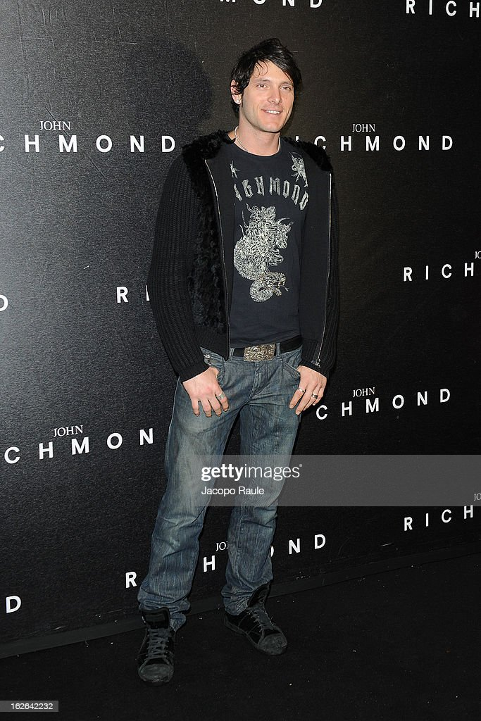 <a gi-track='captionPersonalityLinkClicked' href=/galleries/search?phrase=Aldo+Montano&family=editorial&specificpeople=162700 ng-click='$event.stopPropagation()'>Aldo Montano</a> attends the John Richmond fashion show as part of Milan Fashion Week Womenswear Fall/Winter 2013/14 on February 25, 2014 in Milan, Italy.