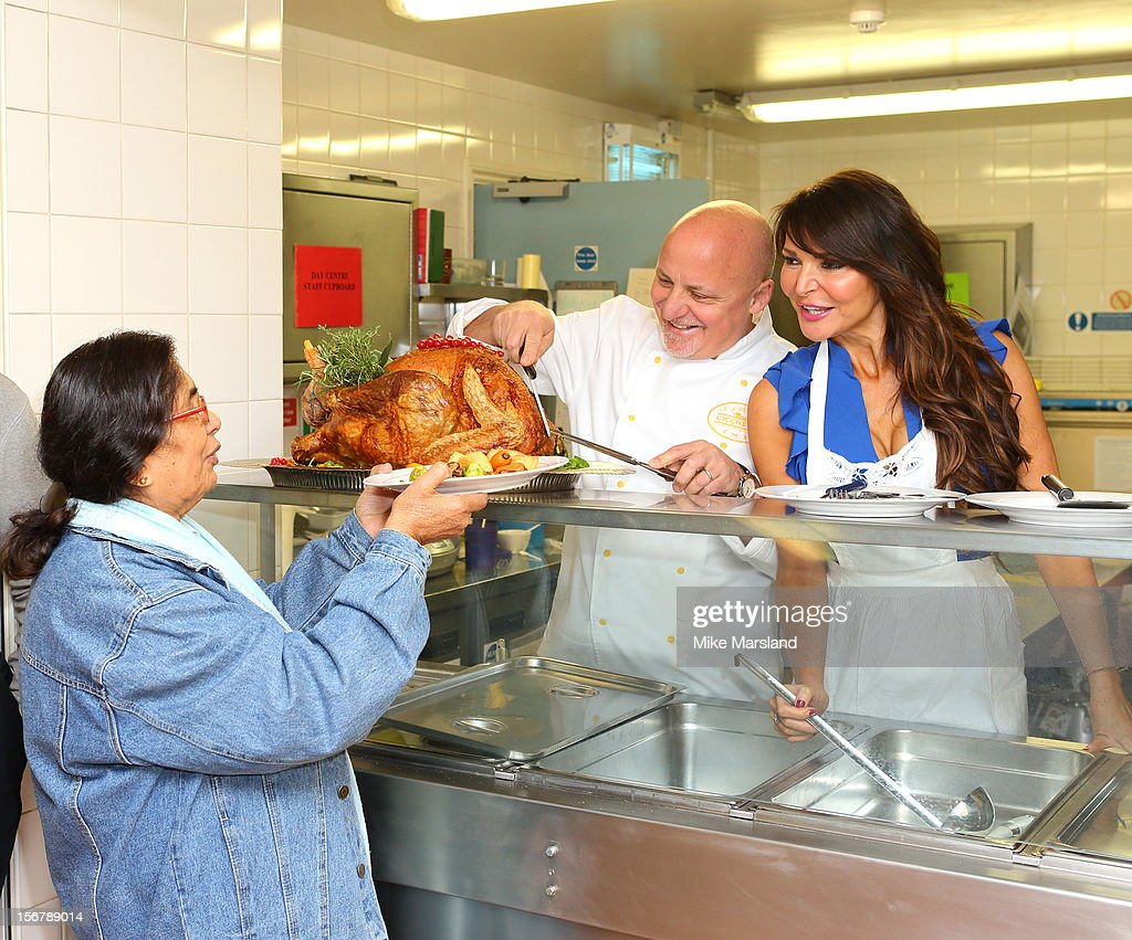 <a gi-track='captionPersonalityLinkClicked' href=/galleries/search?phrase=Aldo+Zilli&family=editorial&specificpeople=603899 ng-click='$event.stopPropagation()'>Aldo Zilli</a> and <a gi-track='captionPersonalityLinkClicked' href=/galleries/search?phrase=Lizzie+Cundy&family=editorial&specificpeople=4697352 ng-click='$event.stopPropagation()'>Lizzie Cundy</a> attend The Marylebone Project's Thanksgiving meal for homeless women in conjunction with the American InterContinental University on November 21, 2012 in London, England.