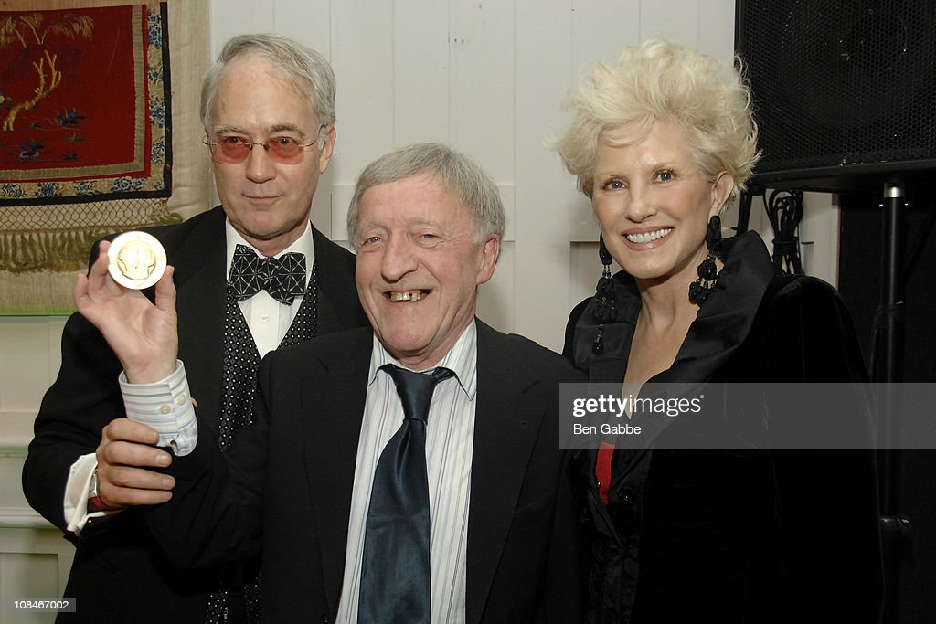 Aldon James, Paddy Moloney and Dianne Bernhard attend the Gold Medal of Honor for Lifetime Achievement in Music at The National Arts Club on January 27, 2011 in New York City.